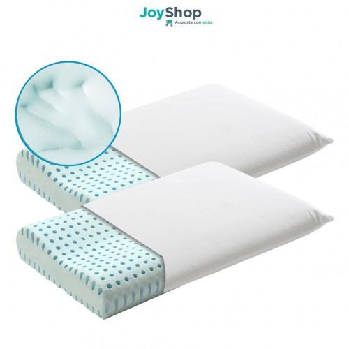 Coppia cuscino di qualità con tessuto fresco cotone sfoderabile - Ortho Cervicale
