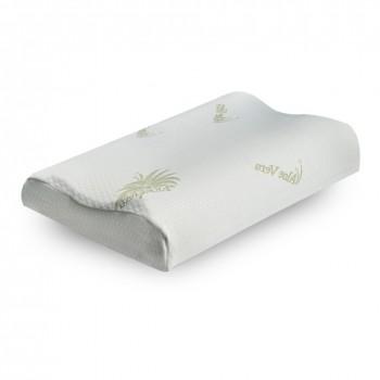 Federa di rivestimento cuscino memory in tessuto aloe anti microbico sfoderabile
