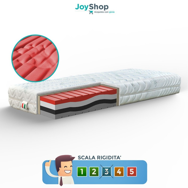Materassi Memory Foam Soia.Mattress In Memory Waves H22 Made In Italy