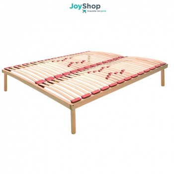 Doghe.Fixed Slatted Bed Base In Beechwood Venere Made In Italy