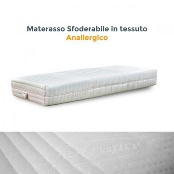 Materasso 100% lattice a zone differenziate con rivestimento anallergico