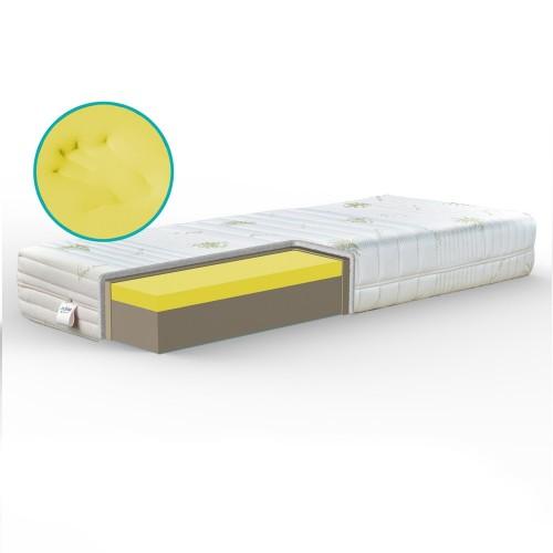 Materasso Memory ortopedico di qualità, rigido alto 20 cm. Tessuto anallergico - YLANG