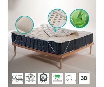 Correttore per materasso elastico in lattice anallergico con tessuto traspirante 3D anti batterico