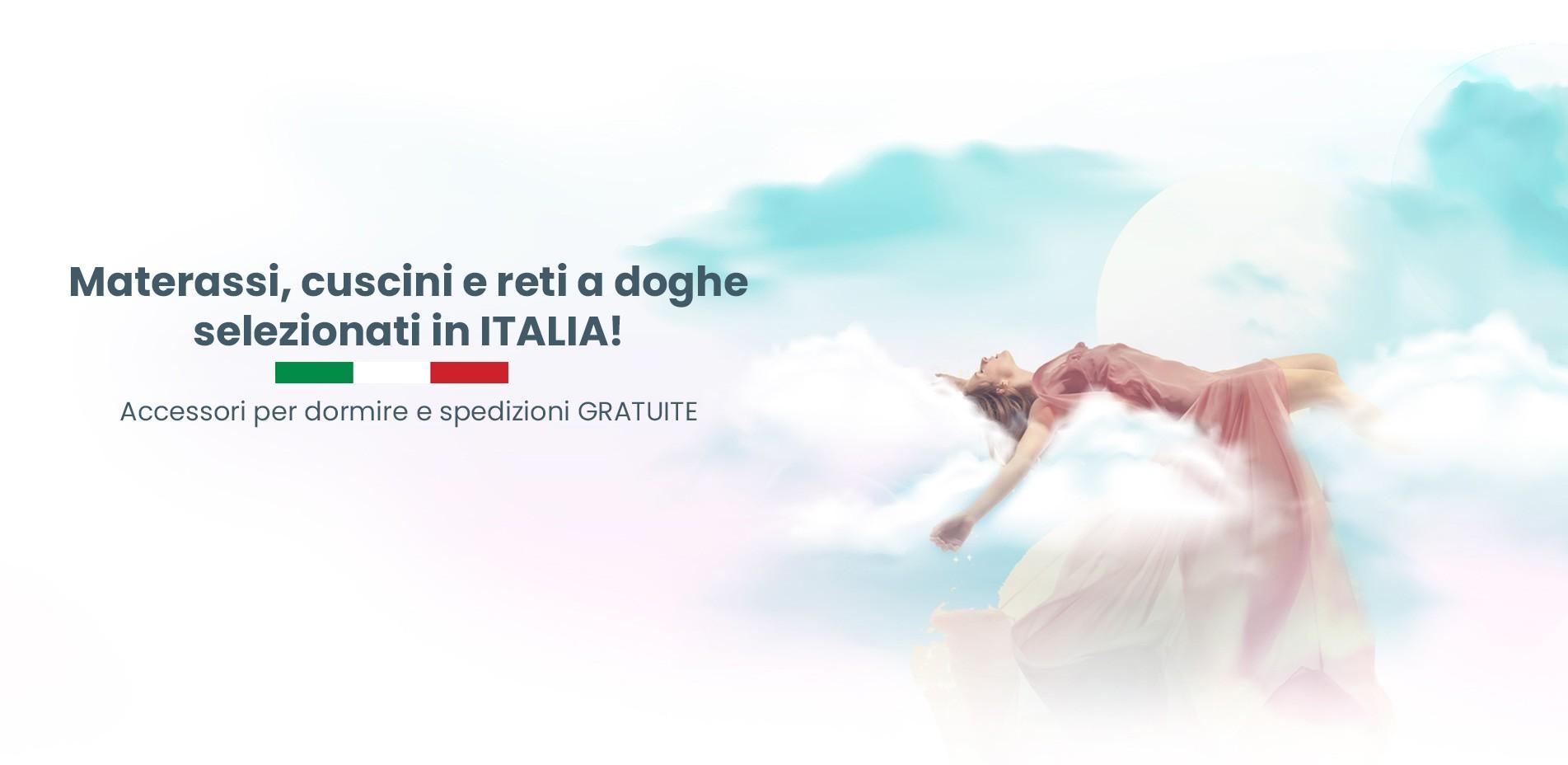 Materassi e reti a doghe selezionati in Italia.